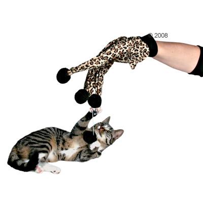 Glove - Leopard Glove With 4 Pompom Balls - Glove
