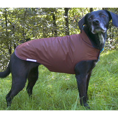 Accessories For Fashion - Dog Cape With Collar Dark Brown & Pink - Size XL