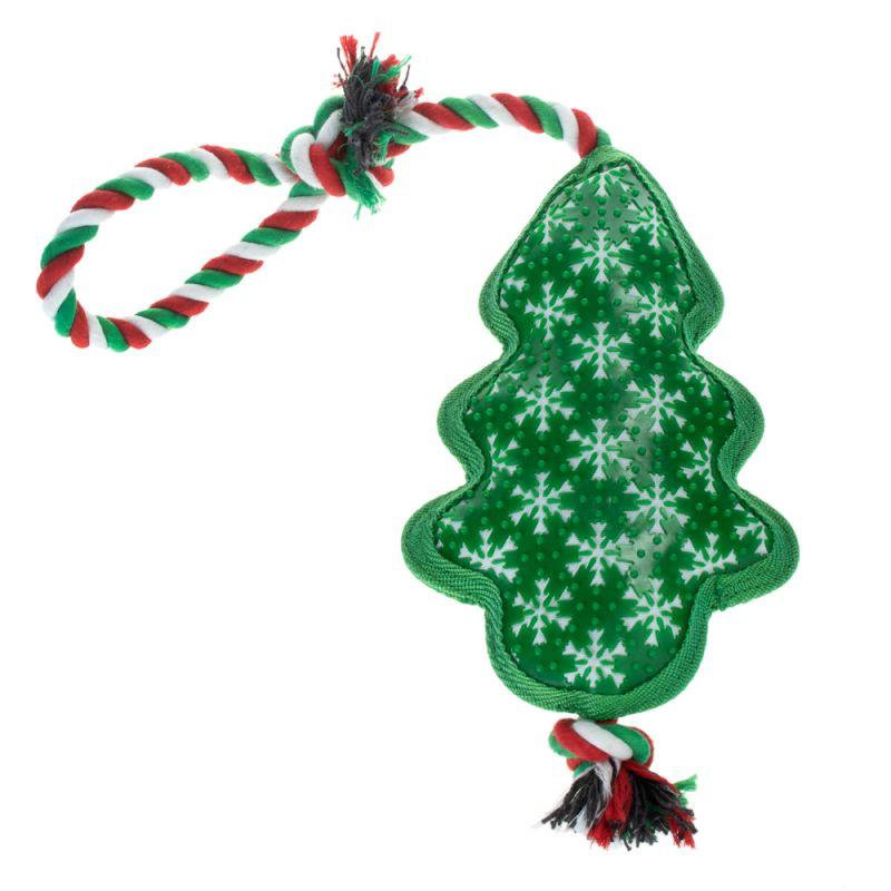 Christmas Tree rope dog toy
